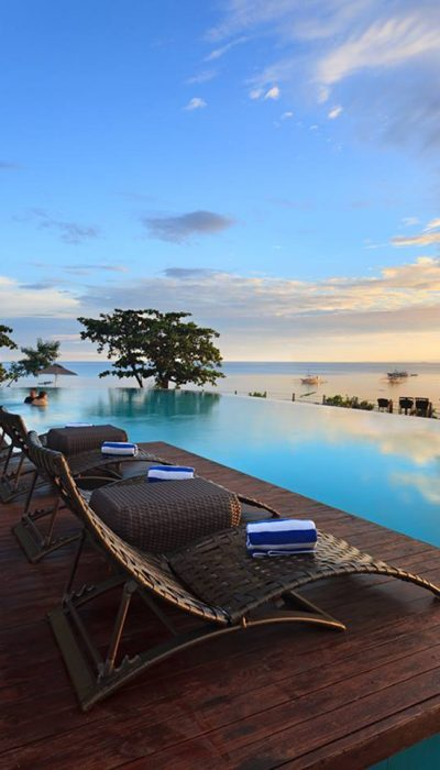 Amorita Resort Bohol The Phillippines Eternity Pool Sunset