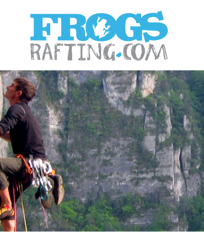 climbing morzine with frogs rafting