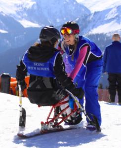 skiing with heroes adaptive skier