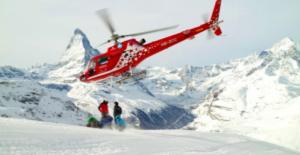 Helicopter Mountains Heli Skiing